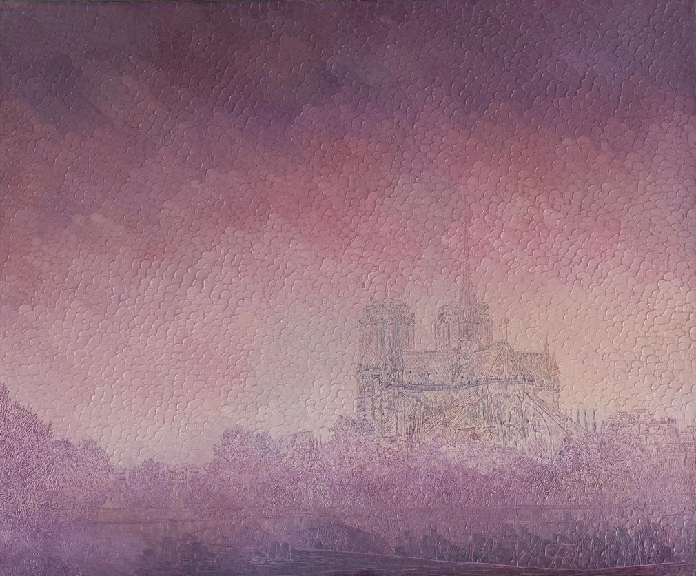Notre-Dame de Paris: Huile sur toile 60X50