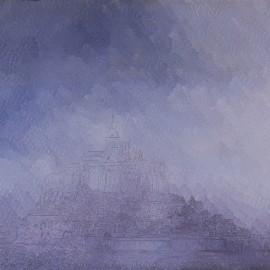 Mont St Michel: Huile sur toile 60X50