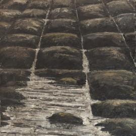 Sur le Pavé, Huile sur toile 80X100 (1966)