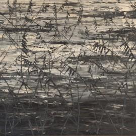 Roseaux, Huile sur toile 130X65(1966)