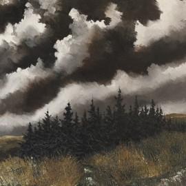 Stoïcité forestière: Huile sur toile,100X80 (1968)