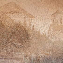 Le Jardin aux Alouettes, Huile sur toile 60X50 (1980)
