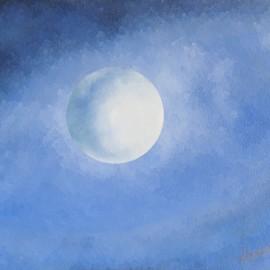 Luminescence d'Ailleurs: Huile sur toile 70X90 (1980)