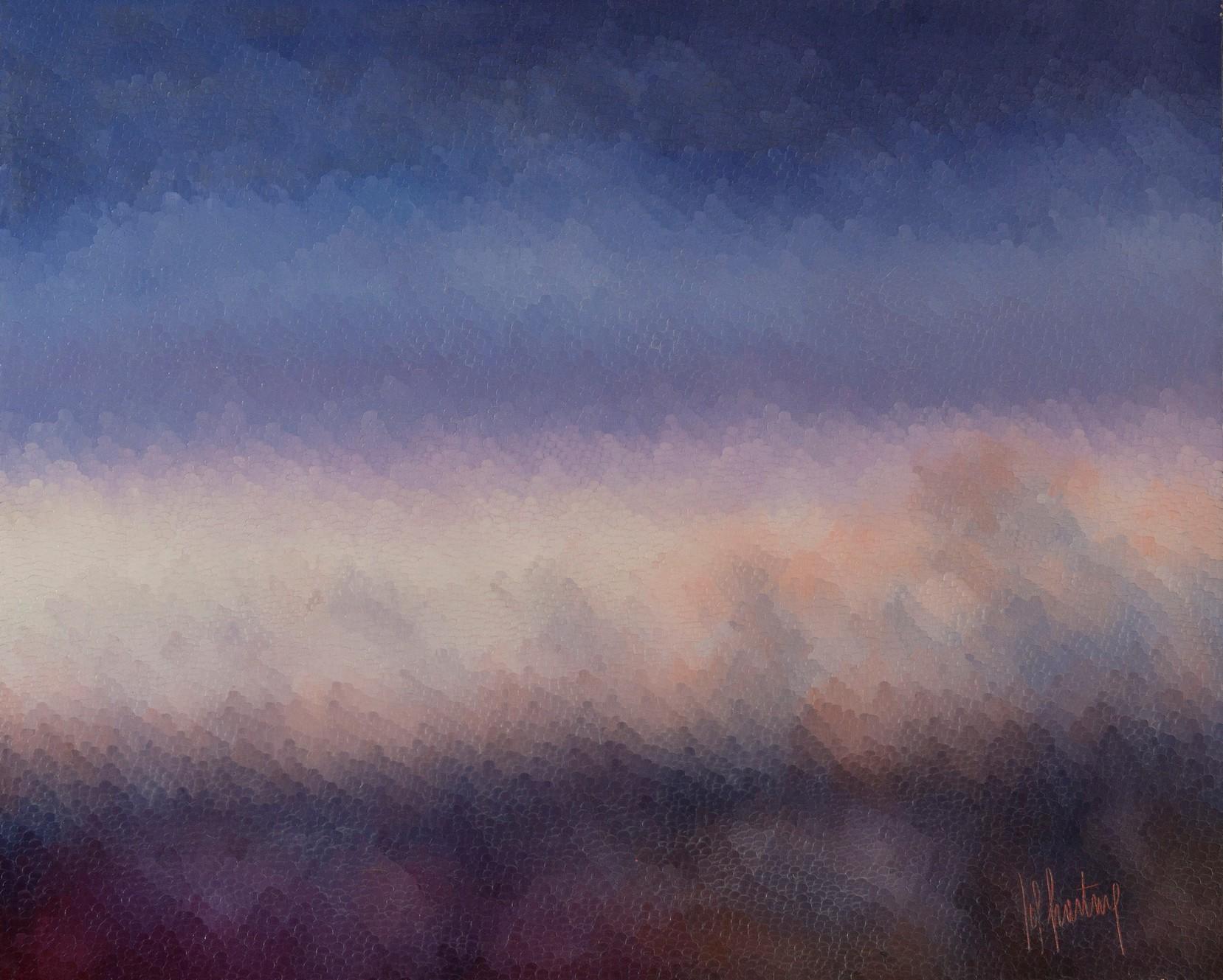 Entre Ciel et Terre, huile sur toile 100X80 (1979)