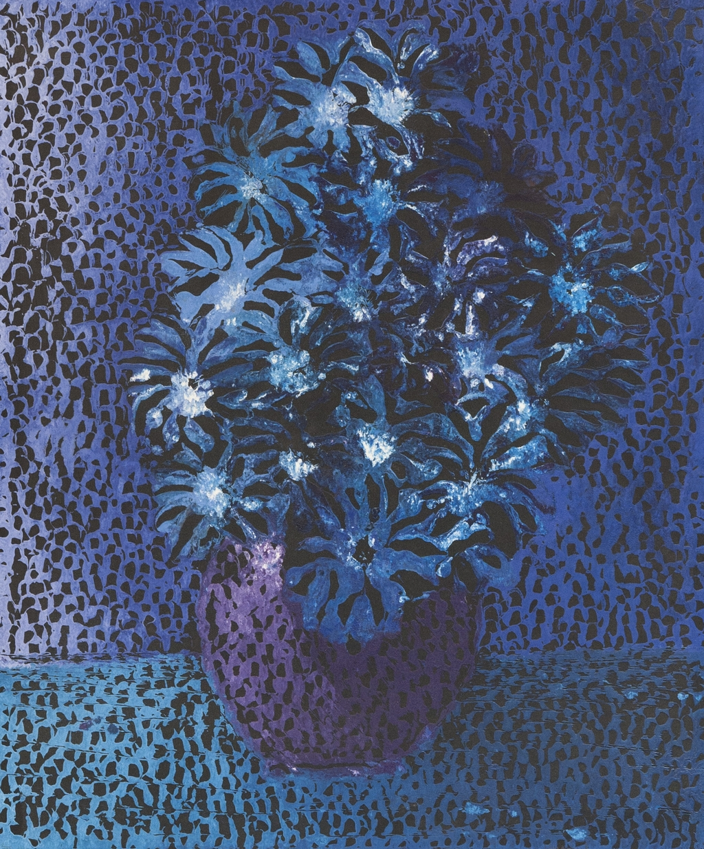 Fleurs bleues: 1/5 52x62