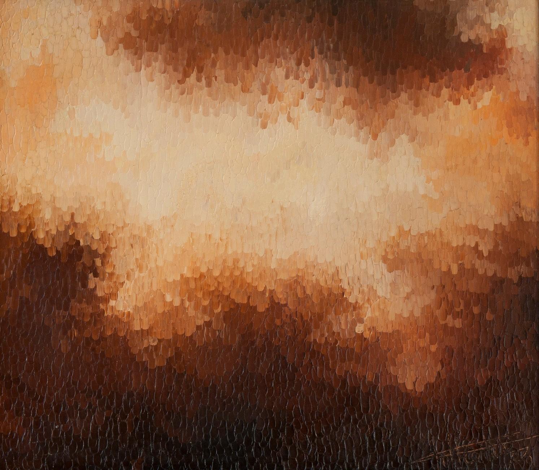 Supernova: huile sur toile 80X70 (1977)