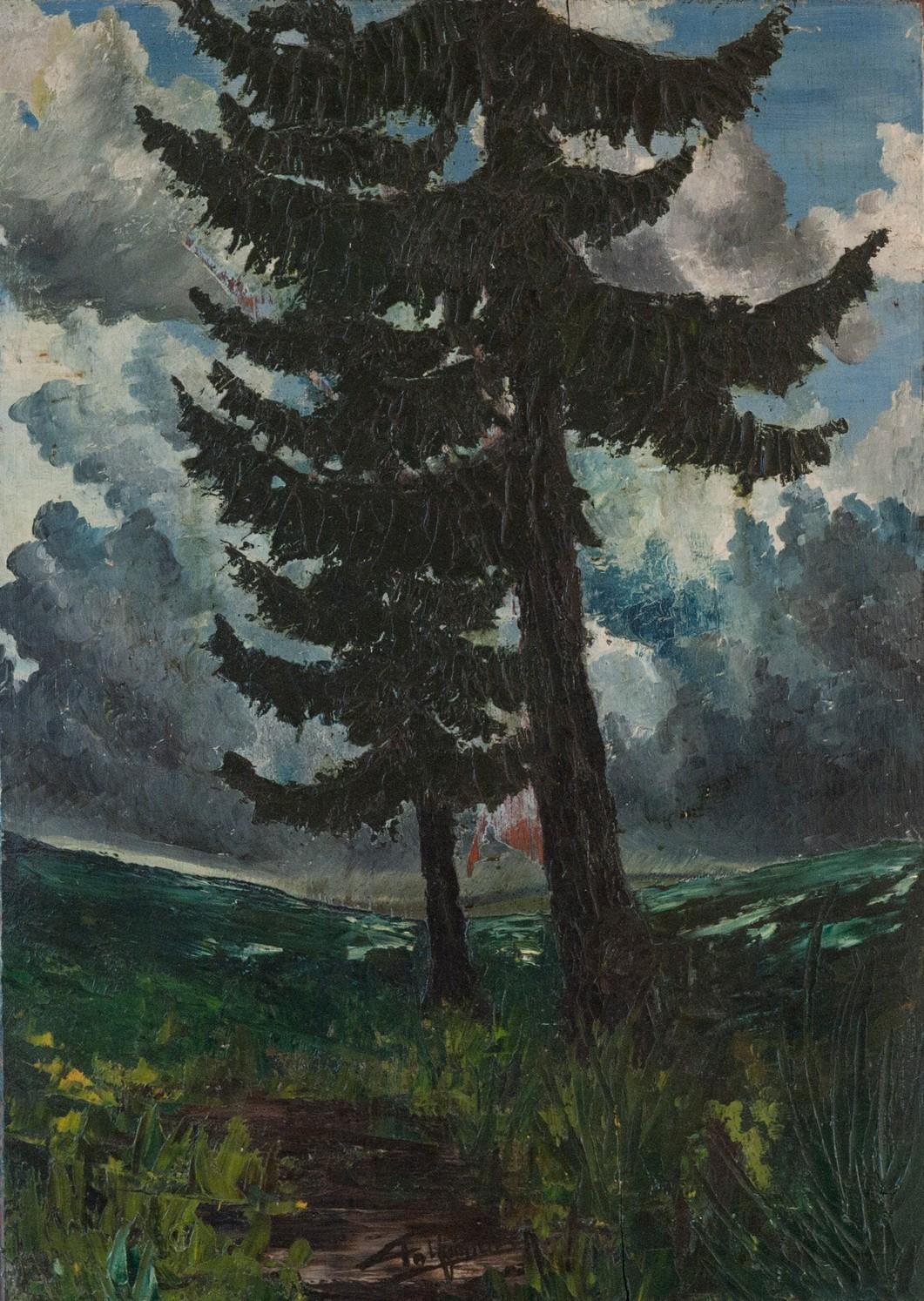 Le Petit Val: Huile sur bois, 42X58 (œuvre de jeunesse)
