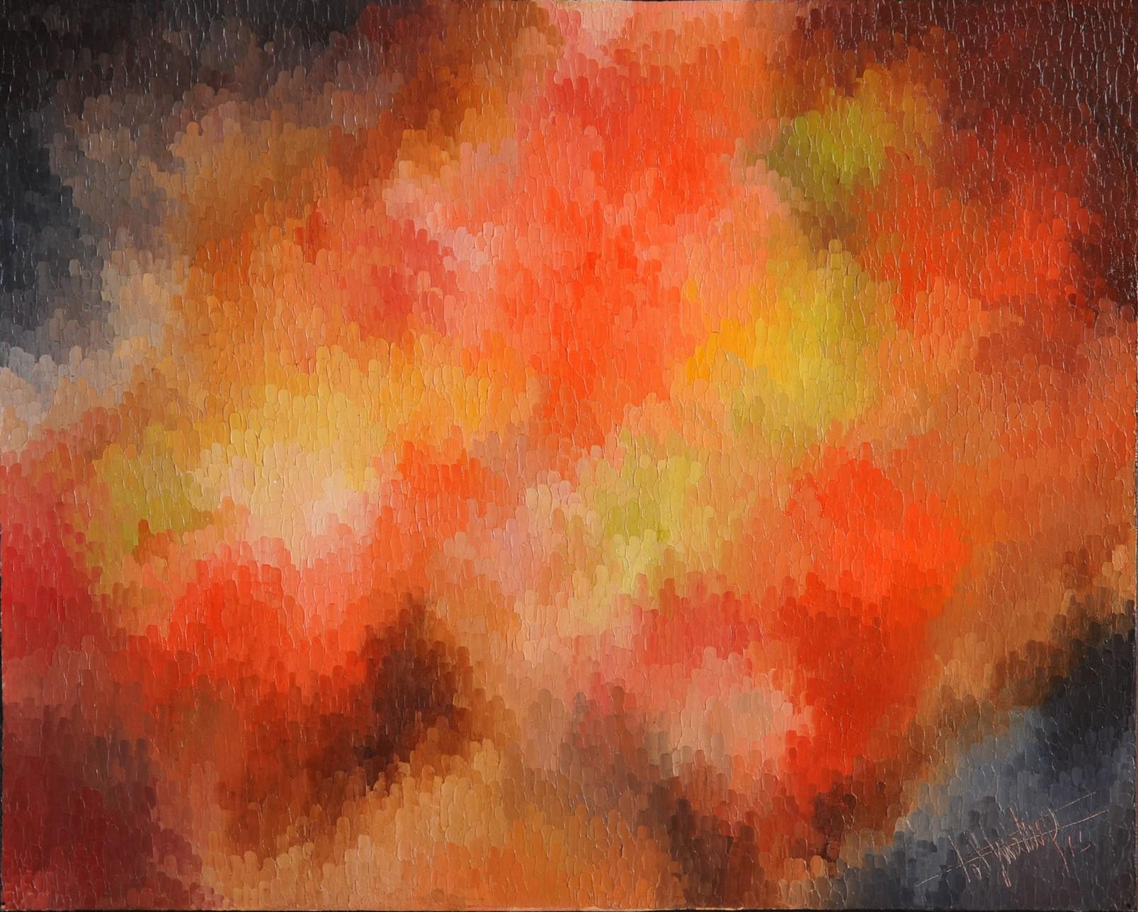 La Nuit des Cosmonautes, huile sur toile 100X80 (1972)