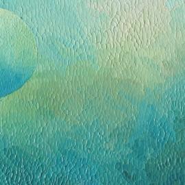 Au delà - A Tom Bauchau: Huile sur toile