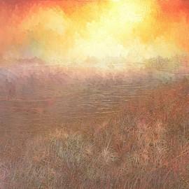 Au loin de Vinkeveen, huile sur toile 90X70 (1974)