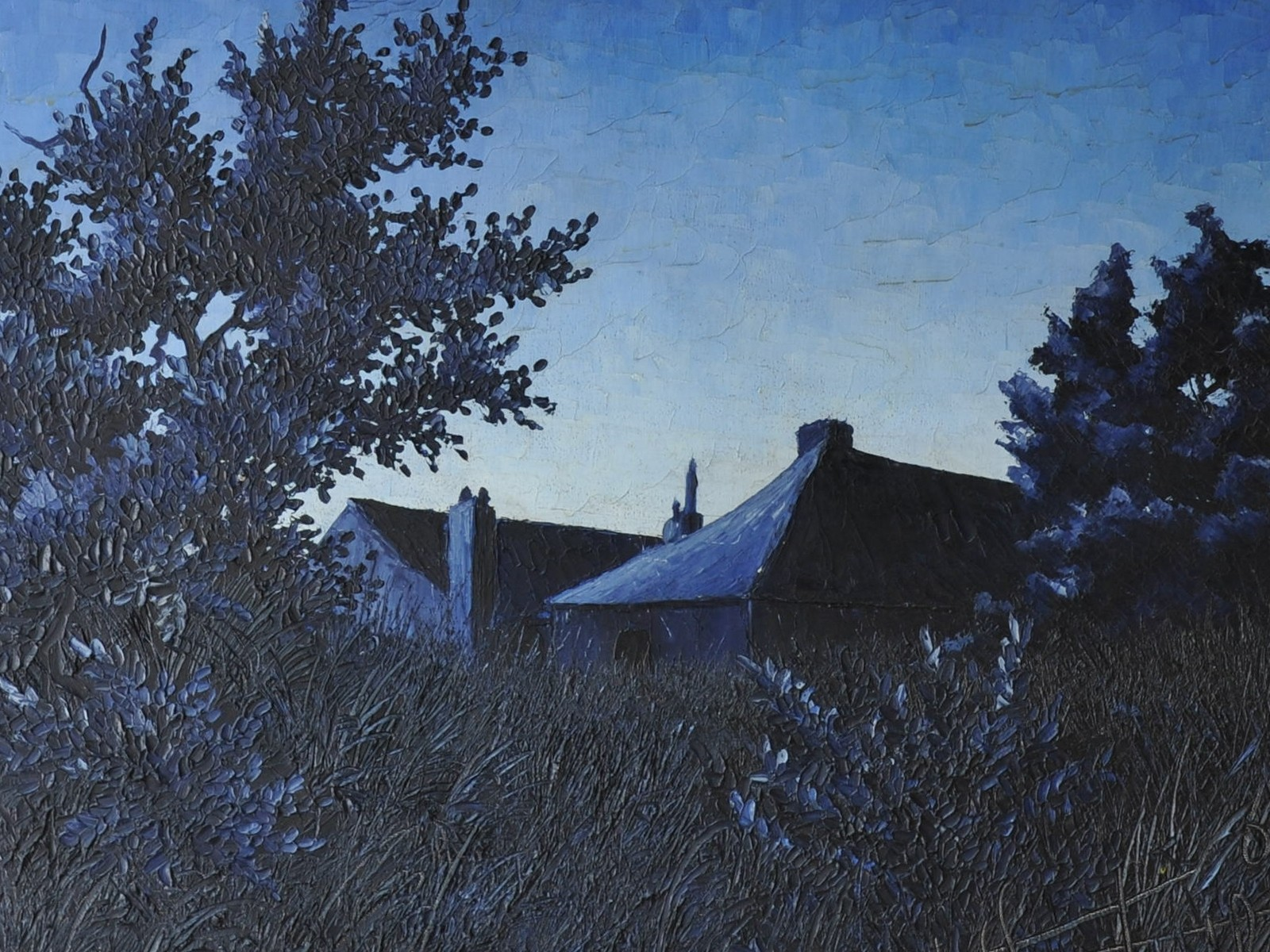 Crépuscule bleu - détail