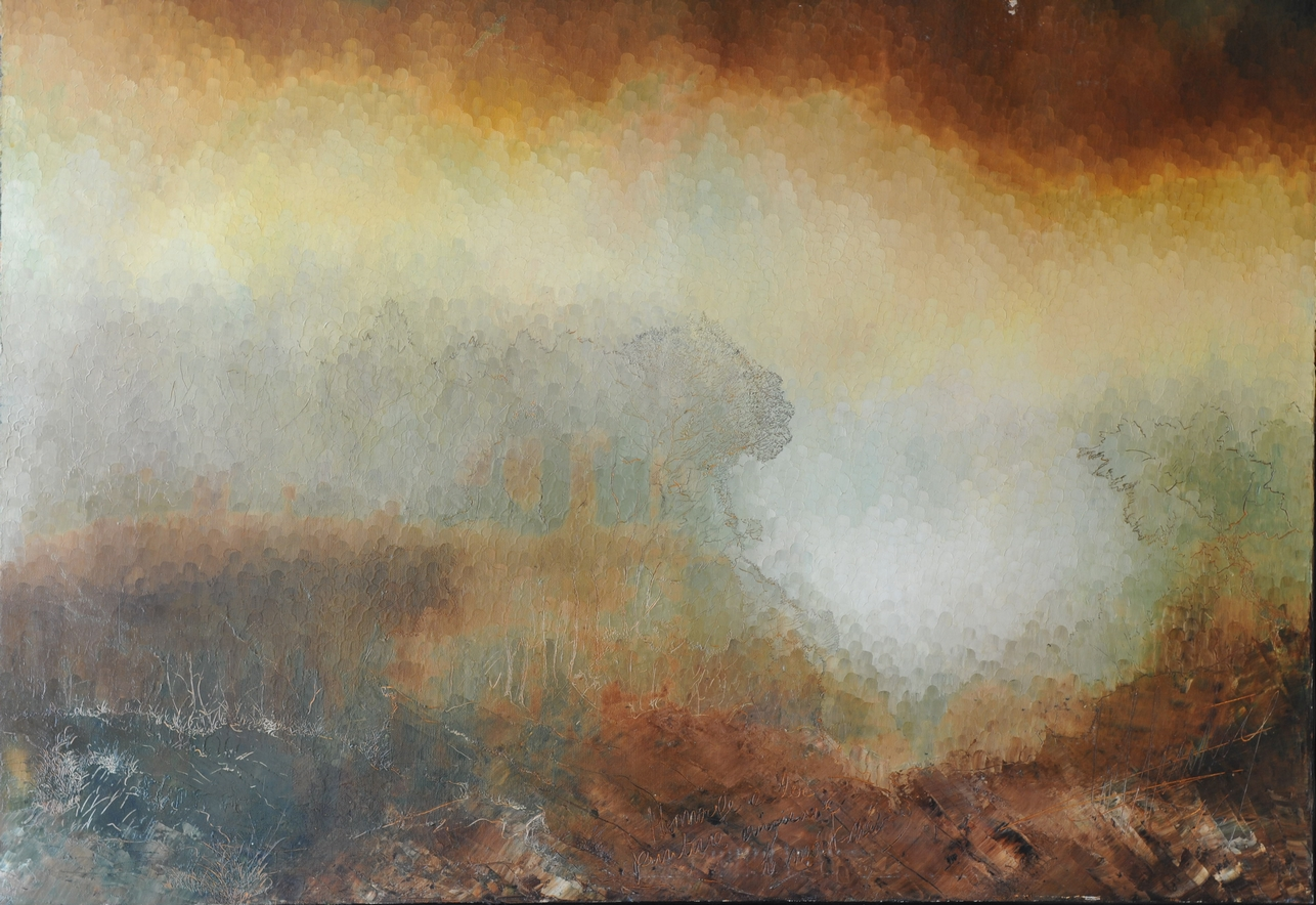Hommage à la Peinture ancienne - Le Mort-né: Huile sur toile 100X90