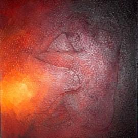 Sensualité incandescente: Huile sur toile 50X60 (1981)