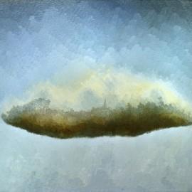 Élévation Intemporelle, huile sur toile 135 x 100cm