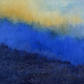 Le Muret, Huile sur toile 100 x 80 (1973)