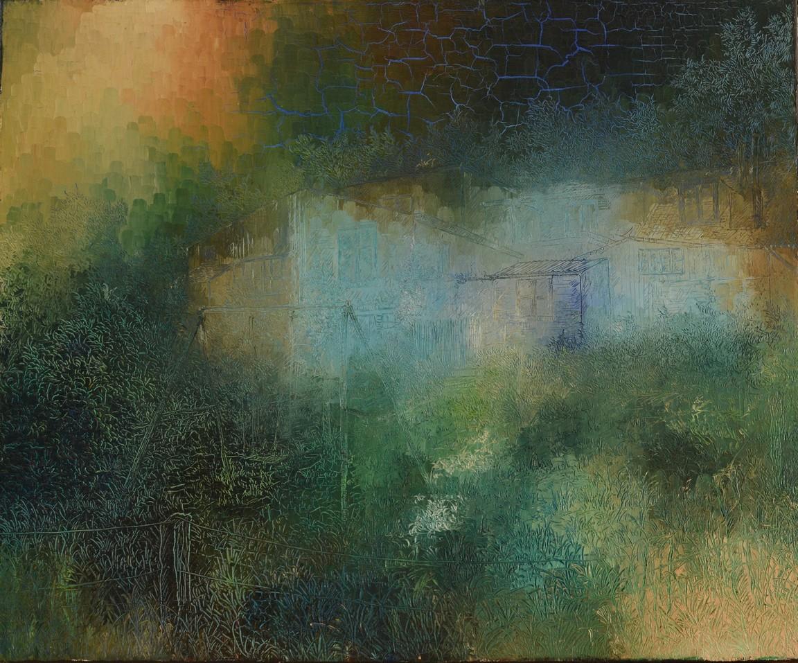 Paix et mystérieuse Lumière, Huile sur toile 60X50
