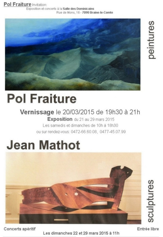 Exposition Braine-le-Comte - Invitation