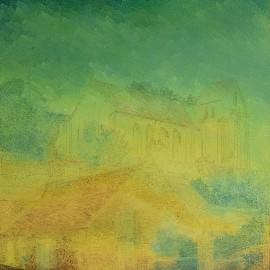 Épernon: Huile sur toile 70X90 (1980)